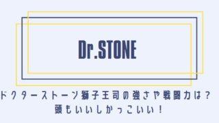 ドクターストーン獅子王司の強さや戦闘力は?頭もいいしかっこいい!